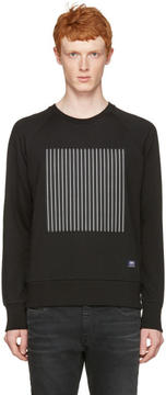 Rag & Bone Black Rowing Stripe Pullover