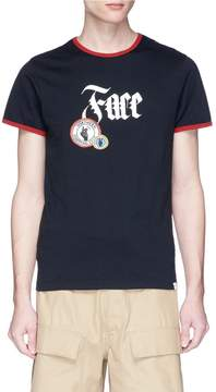 Facetasm 'Northern Soul' logo print mix patch T-shirt