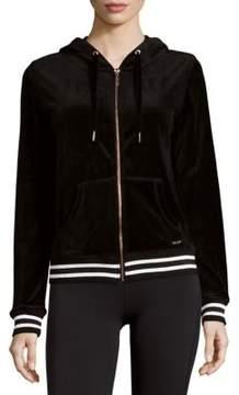 Betsey Johnson Velour Hooded Jacket