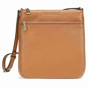 Michael Kors Riley Small Flat Leather Crossbody - Acorn - BROWNS - STYLE