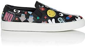 Anya Hindmarch WOMEN'S STICKER LEATHER SLIP-ON SNEAKERS