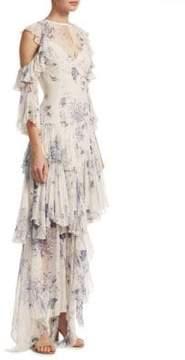 Cinq à Sept Ceria Tiered Floral Dress