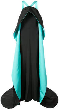 Christian Siriano two-tone long gown