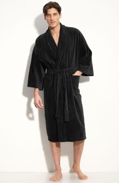 Majestic International Men's Terry Velour Robe