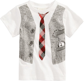 First Impressions Vest-Print Cotton T-Shirt, Baby Boys (0-24 months), Created for Macy's