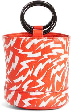 Simon Miller x Paramount Grease Bonsai 15 Lightning Print Bucket Bag