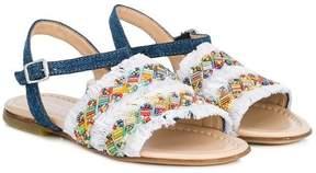 Ermanno Scervino beaded fringed sandals