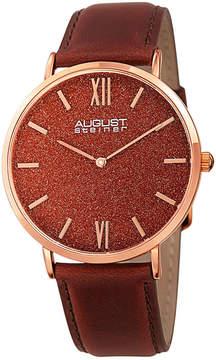 August Steiner Mens Brown Strap Watch-As-8211rgrd