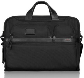 Tumi Men's 'Alpha 2' Laptop Briefcase With Id Lock Pocket - Black