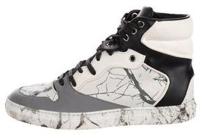 Balenciaga Marble High-Top Sneakers
