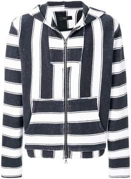 Amiri striped zipped hoodie