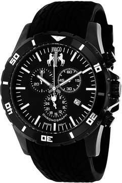 Jivago Ultimate Mens Black Dial Black Silicone Strap Watch