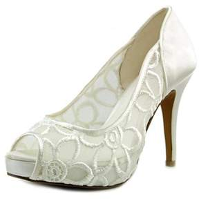 Menbur Devan Women Peep-toe Canvas White Heels.