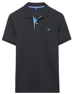 Gant Men's Black Cotton Polo Shirt.