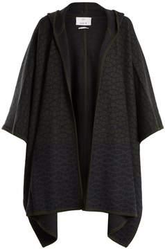 Allude Geometric-intarsia cashmere cape