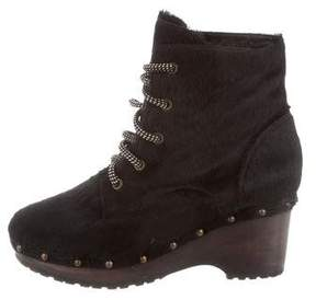 Opening Ceremony Ponyhair Ankle Boots