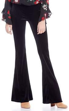 Chelsea & Violet Velvet Flare Leg Pant