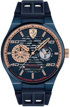 Ferrari Men's Speciale Multi Blue Silicone Strap Watch 44mm