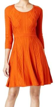 Calvin Klein Women's Textured Cable-Knit Sweater Dress