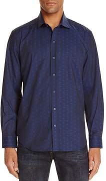 Robert Graham Deven Skull Jacquard Tailored Fit Button-Down Shirt