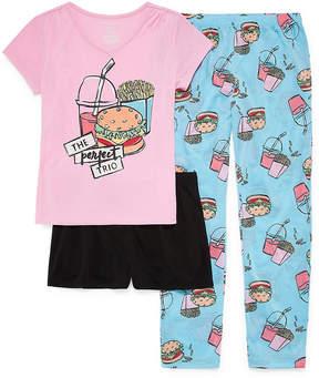 Arizona 3pc Perfect Trio Pajama Set Big Girls & Plus