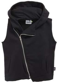 Nununu Asymmetrical Zip Hooded Vest