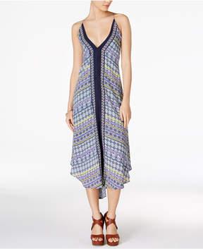 Astr Frida Printed Tassel-Tie Dress