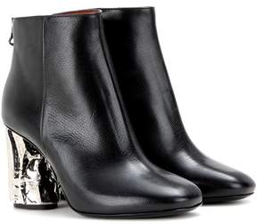 Acne Studios Ora Palm embellished leather ankle boots