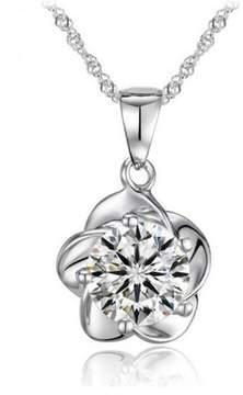 Alpha A A Designer Inspired Flower Peddle Necklace