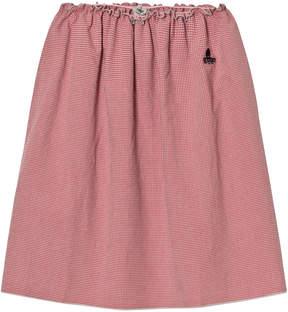 Bobo Choses Pink Vichy Long Flared Skirt