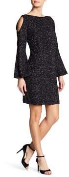 Eliza J Cold Shoulder Shimmer Dress