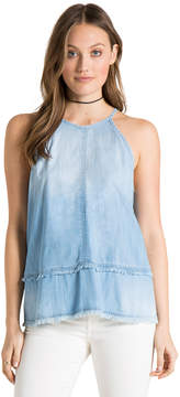 Bella Dahl Multi-Stitched Halter Top-Vintage Zion Wash-XS