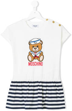 Moschino Kids bear print ruffled T-shirt