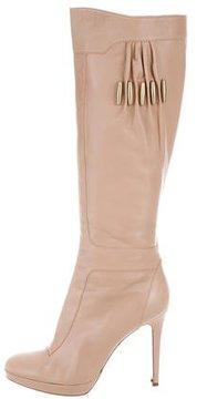 Versace Platform Knee-High Boots