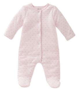 Absorba Girls' Footed Coverall.