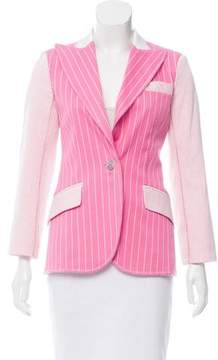 Christian Dior Striped Fitted Blazer