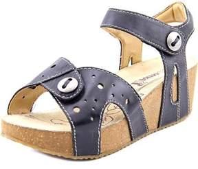 Romika Florida 05 Open Toe Leather Wedge Sandal.