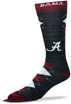 For Bare Feet Men's Alabama Crimson Tide Fan Nation Crew Socks