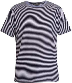 A.P.C. Maui crew-neck striped cotton T-shirt