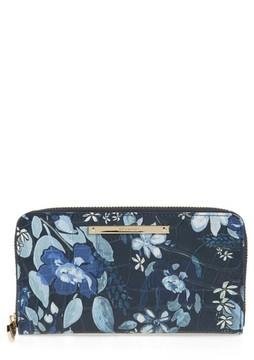 Brahmin Women's Suri Leather Zip Around Wallet - Blue