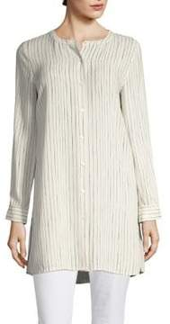 Eileen Fisher Painterly Striped Shirt