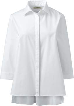 Lands' End Lands'end Women's 3/4 Sleeve Poplin Shirt