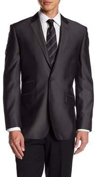 English Laundry Grey Two Button Notch Lapel Trim Fit Suit Separates Jacket
