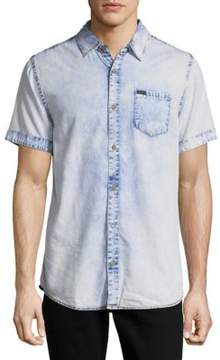 Buffalo David Bitton Denim-Inspired Cotton Casual Shirt