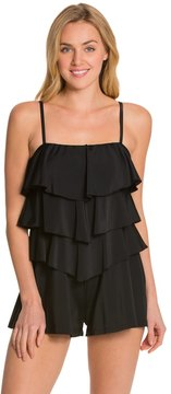Fit 4 U Fit4U Solid Three Tiered Bandeau Romper 8125223
