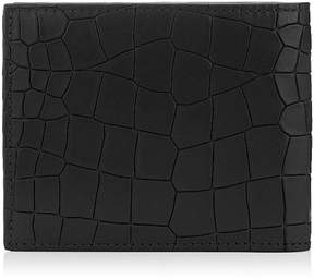 Jimmy Choo MARK Black Leather Crocodile Embossed Wallet
