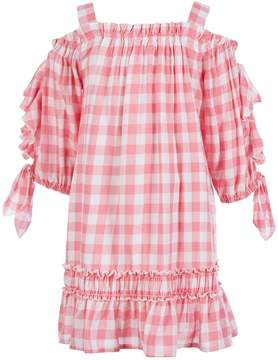 Hannah Banana Black Label Little Girls 4-6X Gingham Cold Shoulder Dress