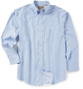 Roundtree & Yorke Gold Label Big & Tall Non-Iron Long-Sleeve Stripe Sportshirt