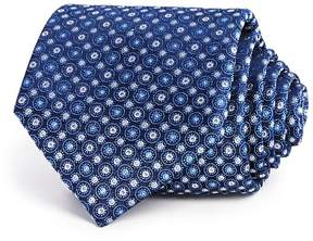Bloomingdale's The Men's Store at Textured Medallion Circles Classic Tie - 100% Exclusive