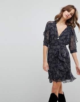 BA&SH Wrap Printed Dress